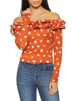 Floral Off the Shoulder Top - 1402069391074