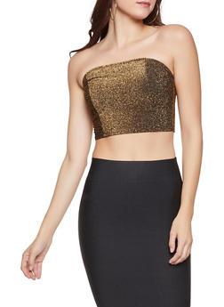 Shimmer Knit Tube Top - 1402069391317