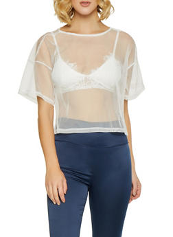 Tulle Crop Top - 1402069391559