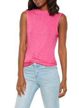 Sleeveless Twist Front Top - 1402069392078