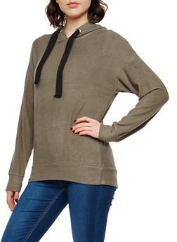 Fleece Hooded Sweatshirt - 1402069399119