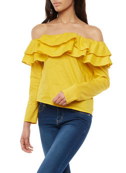 Tiered Off the Shoulder Top - 1402069399165