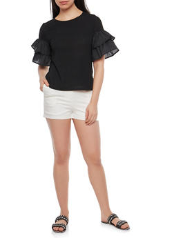 Tiered Sleeve Top - 1402069399652