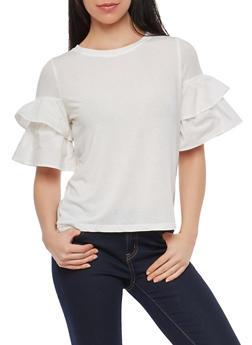 Tiered Sleeve Top - 1402069399652