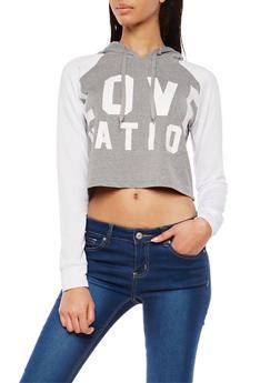 Soft Knit Graphic Hooded Sweatshirt - 1402072299943