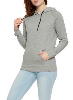 Fleece Lined Pullover Sweatshirt - 1402074560875