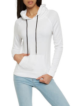 Fleece Lined Pullover Sweatshirt - 1402074560875