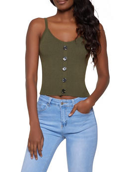 Womens Green Tank Tops