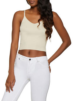 Rib Knit Cropped Cami | 1403015991781 - 1403015991781