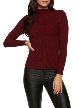 Ribbed Long Sleeve Sweater - 1403054211937