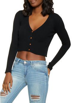Women Black Cardigan Sweaters