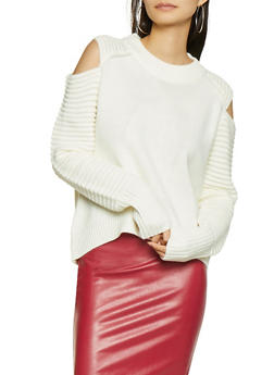 Cold Shoulder Sweater - 1403061350032