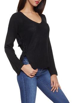 Tie Side Sweater - 1403061350060
