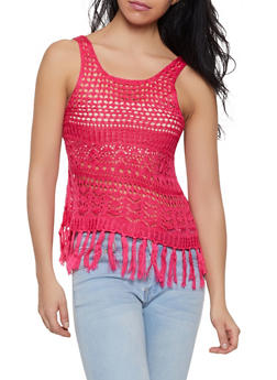 Fringe Crochet Tank Top - 1403061354354