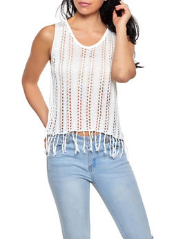 Crochet Fringe Tank Top | 1403061358099 - 1403061358099
