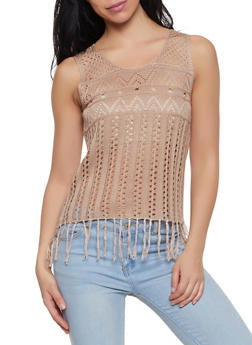 Crochet Fringe Tank Top | 1403061358101 - 1403061358101