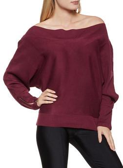 Zip Sleeve Off the Shoulder Sweater - 1403062702772