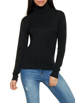 Solid Turtleneck Sweater - 1403062707092