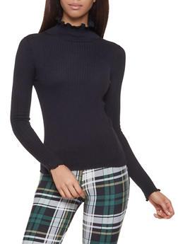 Lettuce Edge Mock Neck Sweater - 1403068191235