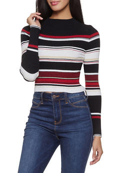 Striped Cropped Sweater | 1403068197090 - 1403068197090