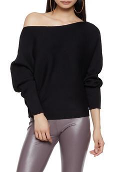 Dolman Sleeve Sweater - 1403075390137
