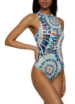 Tie Dye Mock Neck Bodysuit - 1405054213042