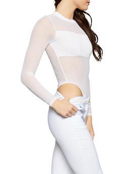 Mesh Thong Bodysuit - 1405061358301