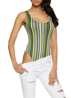 Striped Thong Bodysuit | 1405063400774 - 1405063400774