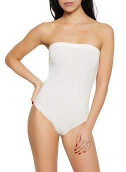 White Strapless Bodysuit