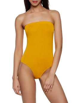 Solid Tube Bodysuit - 1405066492924