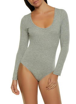 Long Sleeve Bodysuit - 1405066493808