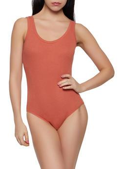 Ribbed Knit Bodysuit - 1405066494941