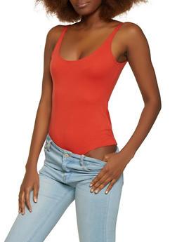 Solid Ponte Bodysuit - 1405068197345