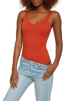 Sleeveless Ponte Bodysuit - 1405068197347