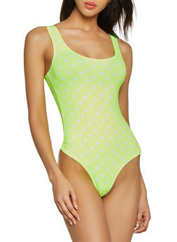 Neon Polka Dot Bodysuit - 1405068511202