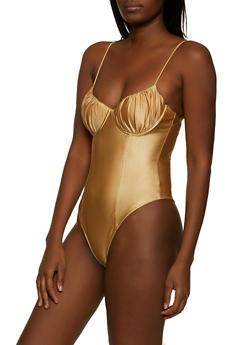 Spandex Cami Bodysuit - 1405069391416