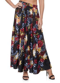 Floral Maxi Skirt - 1406056126614