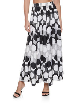 Polka Dot Maxi Skirt - 1406056126619