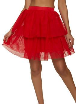 Tiered Tulle Skater Skirt - 1406058751660