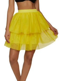 Tiered Tulle Skater Skirt - 1406058751660