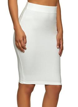 Solid Ponte Skirt - 1406058751669