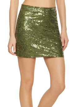 Sequin Mini Skirt - 1406068193168