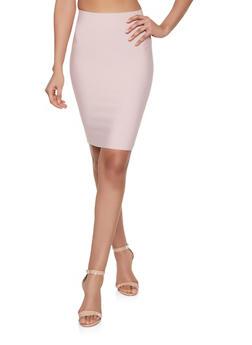 Solid Bandage Pencil Skirt - 1406068197073