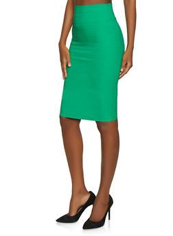 Stretch Pencil Skirt - 1406068514315