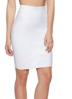 Zip Back Bandage Pencil Skirt - 1406069390070