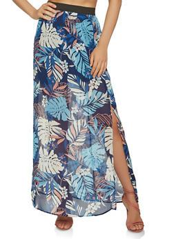 Floral Maxi Skirt - 1406069390141