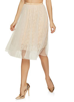 Lace and Tulle Skirt - 1406069390253