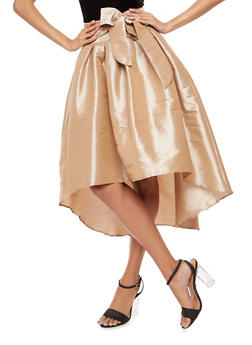 High Low Taffeta Circle Skirt - 1406069391002