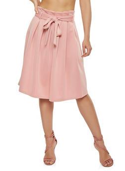 Scuba Midi Skater Skirt - 1406069391217