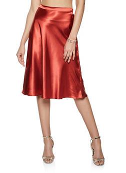Satin Slip Skirt - 1406069394053